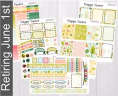 Pinning so I don't forget!! Remember to go back and check out Crafted By Corley on Etsy. Happy Easter Weekly Planner Kit - Erin Condren Vertical and Horizontal Life Planner Stickers Weekly Sticker Set No White Space by CraftedByCorley