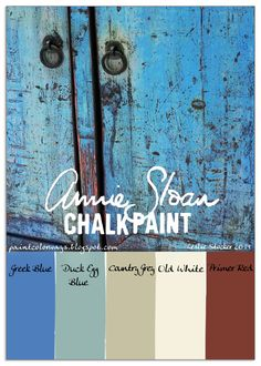 Heavy distressing in combination with the Annie Sloan Chalk Paint colors above, will result in a finish like the one on this pine cabin...