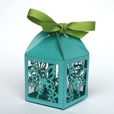 Pretty laser cut butterfly favor box, as featured in Brides Magazine Wrapping Ideas, Gift Wrapping, Laser Cut Box, Laser Cutting, Paper Crafts, Diy Crafts, 3d Paper, Butterfly Wedding, Pretty Box
