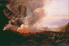 Johann Christian Clausen Dahl - Vesuvius errupting