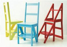 Klooftique stepladder chair. Dual purpose- perfect for a small space!