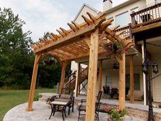 How to Build a Garden Pergola : How-To : DIY Network