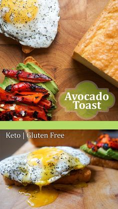 Use the perfect keto bread to make a hearty avocado, egg and fire roasted chili pepper toast for breakfast! ketoconnect.net