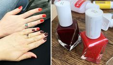Nails Of The Day: Essie Gel Couture in Rock the Runway and Spiked With Style Essie Gel, Gel Nail Polish, Gel Nails, Varnish Remover, Manicure At Home, Beauty Review, Runway, Fancy, Couture