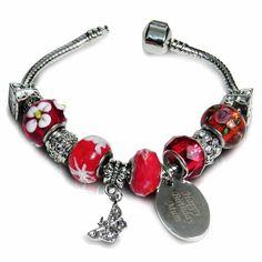 Personalised Charm Bracelet - Cherry £32.99 - The Wedding Gift Company