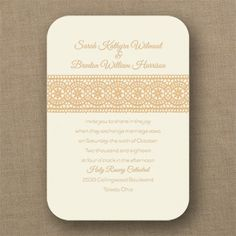 Lace Medallion - Classic Invitation - Choose Your Color - Wedding Invitations - Wedding Invites - Wedding Invitation Ideas - View a Proof Online - Wedding Couples, Wedding Day, Lace Wedding Invitations, Lace Patterns, Lace Weddings, Lace Design, Rustic Wedding, Wedding Planning, Invitation Ideas