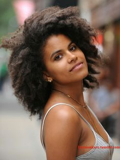 Zazie Beetz afro game on point