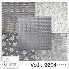 Vol. 0094 Silver Christmas Papers by Doudou's Design  #CUdigitals #CU #digiscrap #commercialuse #scrapbooking cudigitals.comcu commercialdigitalscrapscrapbookgraphics