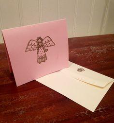 Gold Embossed Angel Blank Greeting Cards w/ Envelopes