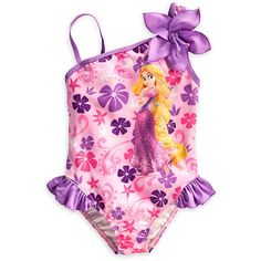 Rapunzel Swimsuit for Girls ($15) ❤ liked on Polyvore featuring children