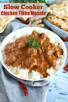Slow Cooker Chicken Tikka Masala is incredibly easy to make at home, by adding all the ingredients to your slow cooker and let it cook to perfection.