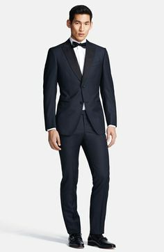 Z Zegna 'Sable' Black Wool Tuxedo available at #Nordstrom