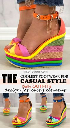 Hipster Fashion, 90s Fashion, Fashion Trends, Cool Outfits, Summer Outfits, Amazing Outfits, Easy Summer Hairstyles, Wedge Sandals, Me Too Shoes