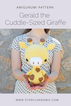 ***PLEASE NOTE: This is a digital crochet PATTERN, NOT a finished item*** Meet Gerald the Giraffe! Gerald is a very happy, optimistic little guy and just as friendly as can be! I know he'd love to be your playmate! Hes very special with his adorable heart-shaped spots too! With this