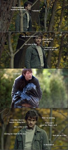 """Swiggety swag what's in the bag?"" x) #Hannibal"