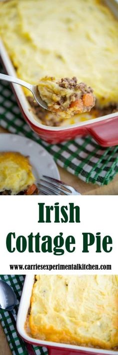 Cottage Pie is equivalent to Shepherd's Pie; however, ground beef is used instead of lamb. It makes a tasty meal any day of the year! Easy Casserole Dishes, Quick Casseroles, Casserole Recipes, Irish Cottage, Cottage Pie, Veal Recipes, Cooking Recipes, Chili Recipes, Cheesy Mashed Potatoes