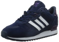 Adidas Women's ZX 700 W, BLUE/WHITE, 6 US | Amazon.com