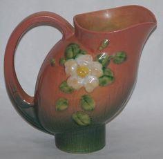 Roseville Pottery White Rose Pink