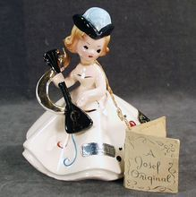 To those born in October...Happy Birthday!!! Old, Josef Original Figurine - October with String Tag