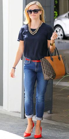 Street Style File: Reese Witherspoon - August 8, 2013 from #InStyle