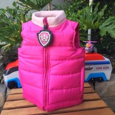 A personal favorite from my Etsy shop https://www.etsy.com/listing/245932999/paw-patrol-skye-puff-vest