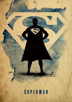 Superman Justice League Minimalist Poster by moonposter on Etsy
