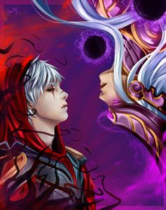Syndra and Zed, league of legends Zed League Of Legends, League Of Legends Characters, Zed Lol, Zed Wallpaper, Legend Images, Lol Champions, Quirky Art, Anime Eyes, Beautiful Love
