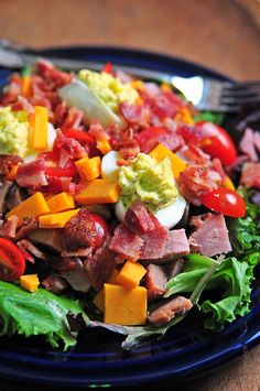 Deviled Egg Chef Salad....I am a helpless hopless foodie...help meeeeeee!!! Yes please and thank you GTFO OMG!