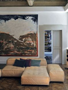 Living Divani Extrasoft Sofa by Piero Lissoni.
