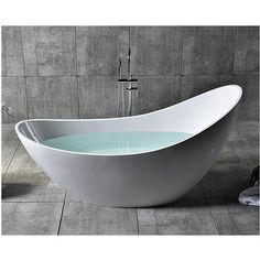 Home Decor Alfi Brand Solid Surface Smooth Resin 73 X 30 75 Freestanding Soaking Bathtub Floor Drains, Soaking Bathtubs, Whirlpool Bathtub, Jacuzzi Tub, Solid Surface, French Country Decorating, Home Improvement, Bathroom Tubs, Master Bathroom