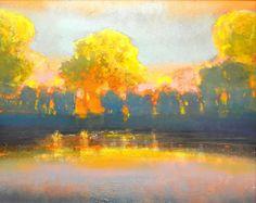 """""""RIVERSIDE: ARCADIAN 2016"""" Landscape Artwork, Watercolor Landscape, Abstract Landscape, Art And Illustration, Gouache, Southwest Art, Naive Art, Contemporary Paintings, Contemporary Landscape"""