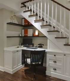Like this idea for under the stairs