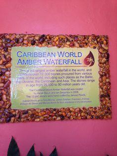 Amber waterfall