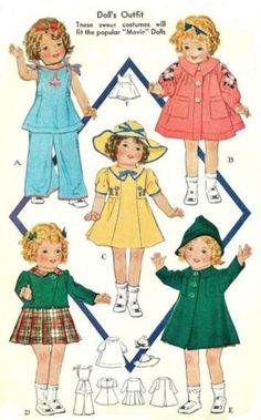 VINTAGE-16-SHIRLEY-TEMPLE-DOLL-PATTERN-418