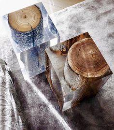 Wood and resin blocks