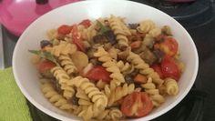 Fusilli with pomodorini and mushrooms