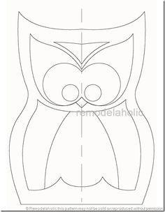 owl pattern Cute Pillows, Diy Pillows, Decorative Pillows, Cushions, Owl Patterns, Applique Patterns, Owl Pillow Pattern, Pillow Patterns, Image Deco