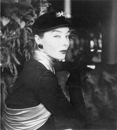 Bettina in Dior, photo by Henry Clarke, 1952