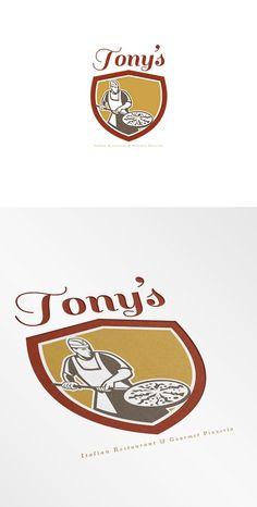 Tony's Italian Restaurant and Pizzer by patrimonio on @creativemarket