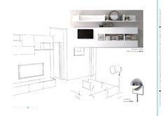 Esame finale corso interior design (www.madeininterior.it): progetto di Anna Parmiggiani