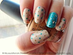 """I SO want to try this - POLKA DOTS!! - how dang CUTE! """"A Taste Of Turquoise"""""""