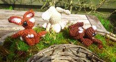 Cute Little Spring Bunnies - Free Amigurumi Pattern http://www.instructables.com/id/Cute-Little-Spring-Bunnies-Crochet/?ALLSTEPS