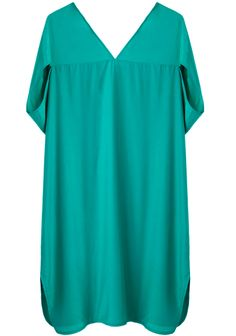silky cotton cocoon dress