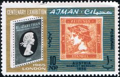 125 years stamps, Centenary Exhibition in London
