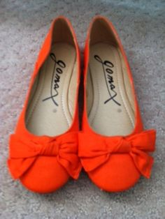 Orange Bow Flats - $12.00
