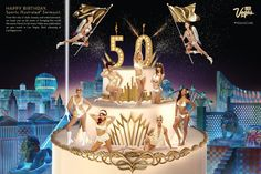 How this thing didn't melt is still a mystery to us. – our #VegasCake in honor of the 50th anniversary of the Sports Illustrated Swimsuit Issue
