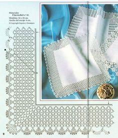 Crochet,Delight-Delight yourself: The beautiful crochet details on the tablecloth - Beautiful Crochet Delight details tablecloth - Style Crochet Border Patterns, Crochet Boarders, Crochet Lace Edging, Thread Crochet, Crochet Designs, Crochet Doilies, Crochet Stitches, Stitch Patterns, Filet Crochet