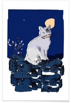 Cat als Premium Poster von Philippos Theodorides   JUNIQE