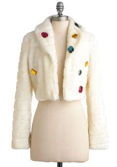 ooh, this makes me happy! Sarah's Honey Frou-Frou Jacket, #ModCloth