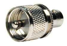 BNC Female Jack to UHF Male PL-259 Plug Adapter Nickel Ham Radio Antenna, Plugs, Plating, Female, Corks, Ear Plugs
